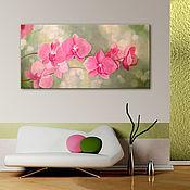 """Картины и панно ручной работы. Ярмарка Мастеров - ручная работа Интерьерная картина """"Орхидея"""". Handmade."""