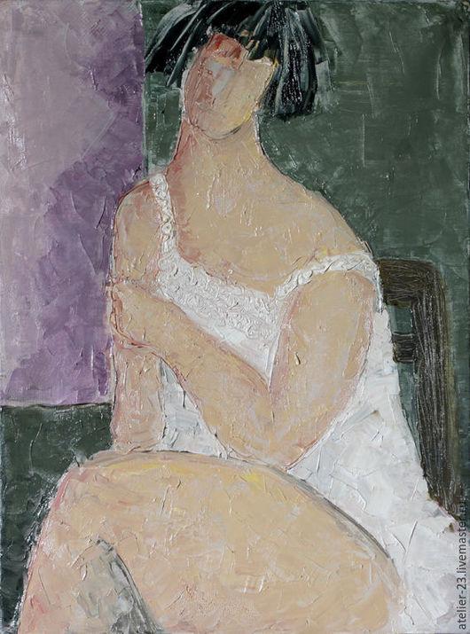 Ню ручной работы. Ярмарка Мастеров - ручная работа. Купить Картина женский портрет Полуграция №1. Handmade. Комбинированный, ню