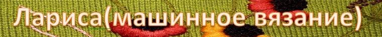 Лариса( машинное вязание)