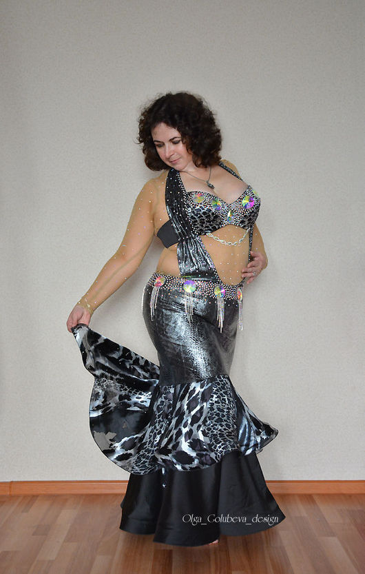 """Танцевальные костюмы ручной работы. Ярмарка Мастеров - ручная работа. Купить Костюм для танца живота """"Black Diamond"""". Handmade. Черный"""