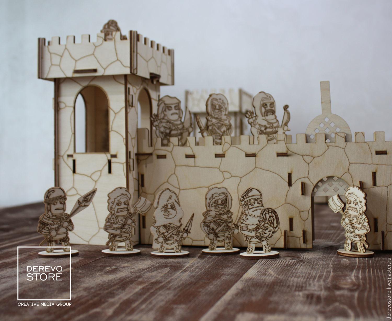 Деревянная крепость игрушка