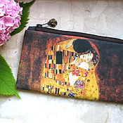 Сумки и аксессуары handmade. Livemaster - original item The Kiss, Cosmetic Bag, Klimt bag, phone bag, bridesmaid clutch. Handmade.