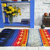 handmade. Livemaster - original item Crochet Wool Area Rug Accent Carpet Decorative Geometric Wall Hanging. Handmade.