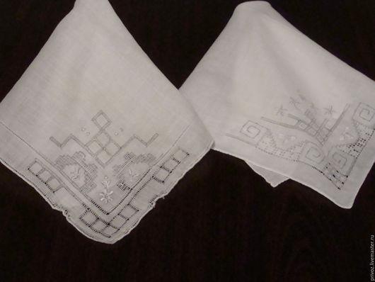 Винтажная одежда и аксессуары. Ярмарка Мастеров - ручная работа. Купить Винтажные платочки  Вышивка. Handmade. Комбинированный, носовой платочек, винтаж