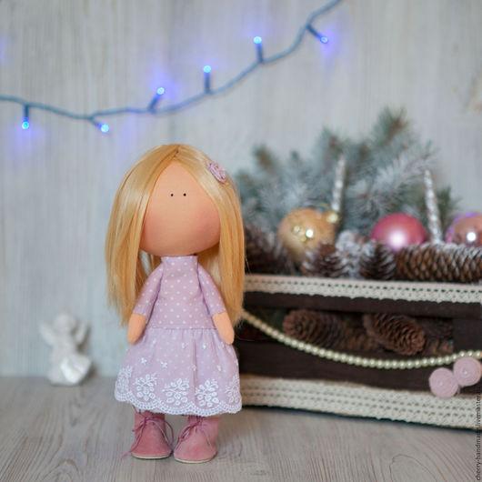 Коллекционные куклы ручной работы. Ярмарка Мастеров - ручная работа. Купить Интерьерная куколка в сиреневом. Handmade. Сиреневый, куколка в подарок