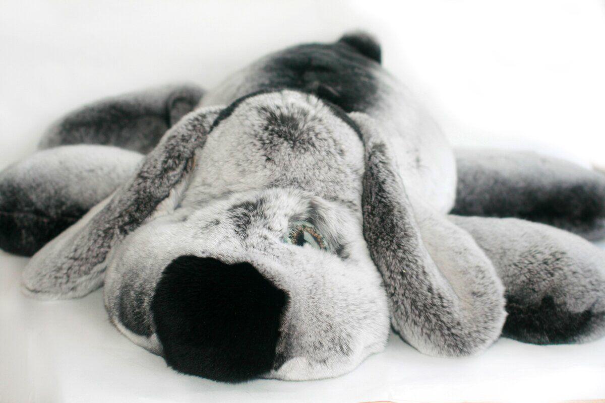 Собачка игрушка из натурального меха шиншиллы рекс, Игрушки, Москва, Фото №1