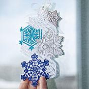 Stained glass handmade. Livemaster - original item Decoration window snowflakes Dance.. Handmade.