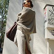 Одежда ручной работы. Ярмарка Мастеров - ручная работа Льняные брюки Fifty-Fifty. Handmade.