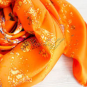 Аксессуары handmade. Livemaster - original item Italian silk scarf from CHANEL fabric. Handmade.
