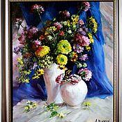 Картины ручной работы. Ярмарка Мастеров - ручная работа Картина маслом Букет полевых цветов. Handmade.