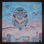 Картины и панно ручной работы. Ярмарка Мастеров - ручная работа Первый снег. Handmade.