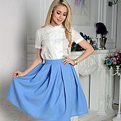Одежда handmade. Livemaster - original item The pleated skirt, the skirt for every day. Handmade.