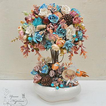 Цветы и флористика ручной работы. Ярмарка Мастеров - ручная работа Топиарий Безмятежность. Дерево счастья. Handmade.