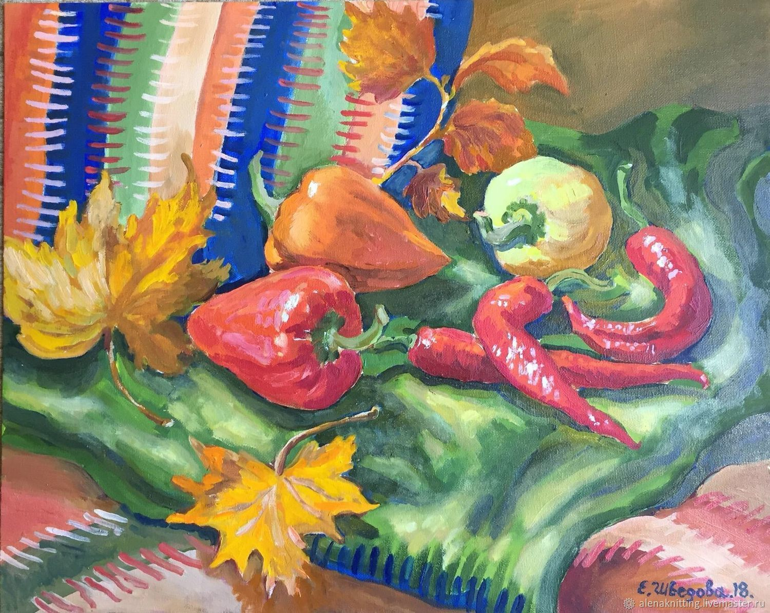 Oil painting 'hot pepper', Pictures, Moscow,  Фото №1