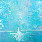 Картины и панно handmade. Livemaster - original item Author`s Seascape