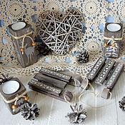 Для дома и интерьера handmade. Livemaster - original item A set of candlesticks Christmas