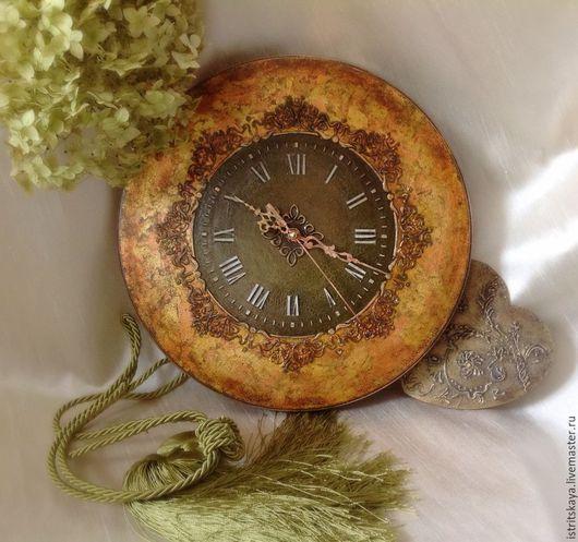 """Часы для дома ручной работы. Ярмарка Мастеров - ручная работа. Купить Часы  """"Семейная традиция"""". Handmade. Разноцветный, часы, медь"""
