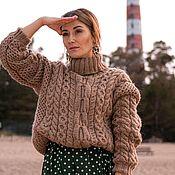 Одежда handmade. Livemaster - original item Women`s sweater with plowshares. Handmade.
