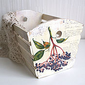 """Для дома и интерьера ручной работы. Ярмарка Мастеров - ручная работа Короб """"Винтажная бузина"""". Handmade."""