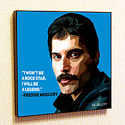 Картины и панно handmade. Livemaster - original item Painting poster Pop Art by Freddie mercury, Queen. Handmade.