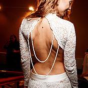 Одежда ручной работы. Ярмарка Мастеров - ручная работа Кружевное платье с голой спиной.. Handmade.