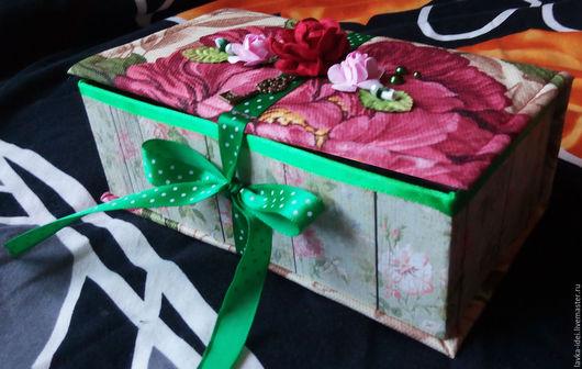 Шкатулки ручной работы. Ярмарка Мастеров - ручная работа. Купить Шкатулка для подарков, мелочей или денег. Handmade. Комбинированный, ткань