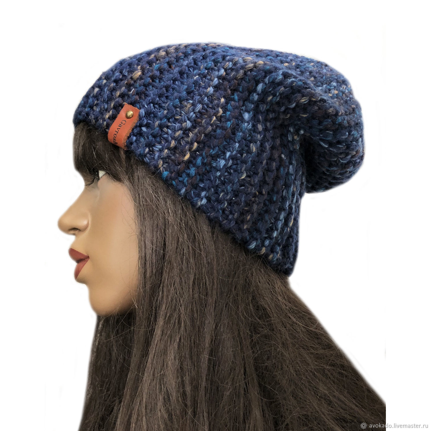Knitted Chenille hat, Caps, Moscow,  Фото №1
