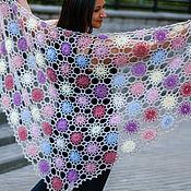 Аксессуары handmade. Livemaster - original item Shawl crochet Flower meadow. Handmade.