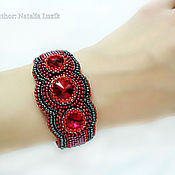 Украшения handmade. Livemaster - original item Red beaded bracelet Swarovski women stylish bracelet. Handmade.