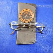 Сумки и аксессуары handmade. Livemaster - original item Leather eyeglass case case for glasses Wolf. Handmade.