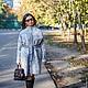Верхняя одежда ручной работы. Ярмарка Мастеров - ручная работа. Купить Пальто серый мрамор для примера , изготовление на заказ. Handmade.