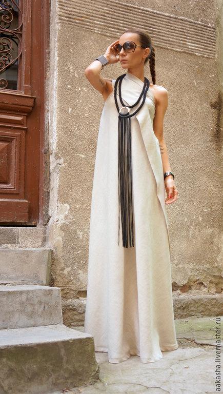 Сарафан летний платье в пол длинное платье бежевое платье