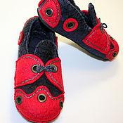 """Обувь ручной работы. Ярмарка Мастеров - ручная работа Валяные тапочки """"Ретро"""". Handmade."""