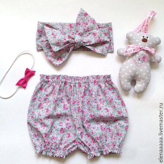 Одежда для девочек, ручной работы. Ярмарка Мастеров - ручная работа. Купить Трусики на памперс- блумеры цветные. Handmade. Комбинированный, цветочный