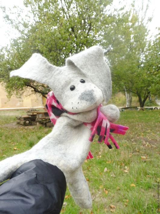 Кукольный театр ручной работы. Ярмарка Мастеров - ручная работа. Купить Игрушка заяц Трюля, игрушка бибабо (BIBABO). Handmade.
