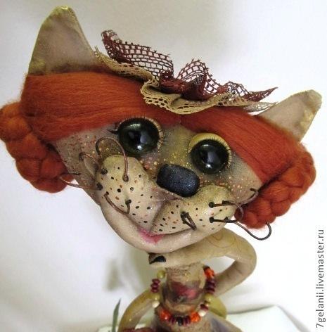 """Куклы и игрушки ручной работы. Ярмарка Мастеров - ручная работа. Купить КОШКА """"ТЁТЯ РОЗА ПРИЕХАЛА"""". Handmade. Бежевый"""