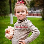 """Работы для детей, ручной работы. Ярмарка Мастеров - ручная работа Свитер для девочки """" Кружевной """". Handmade."""