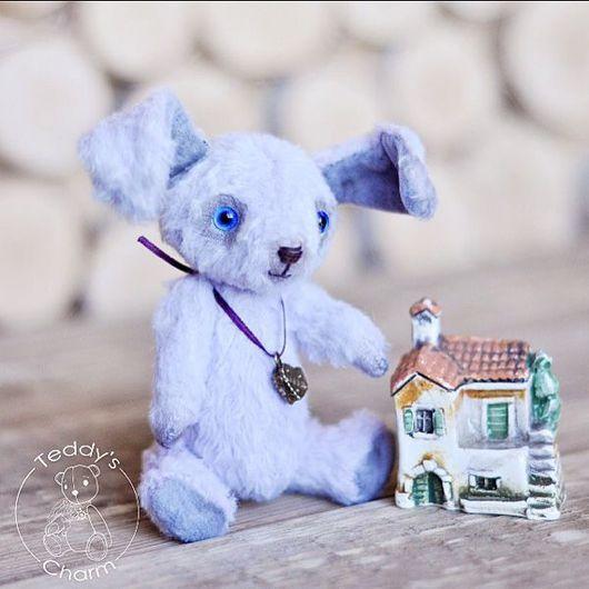 Мишки Тедди ручной работы. Ярмарка Мастеров - ручная работа. Купить Зайка Ронни. Handmade. Бледно-сиреневый, подарок, шерстепон