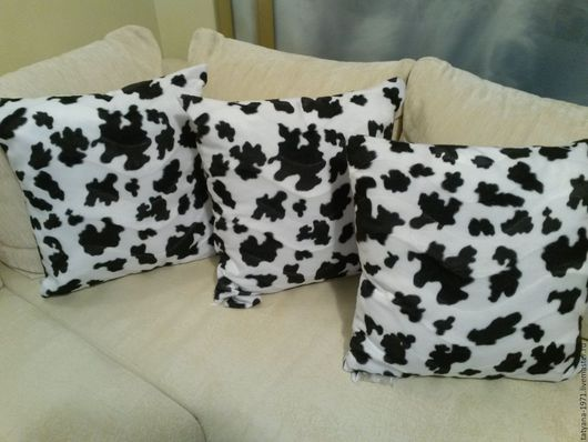 Текстиль, ковры ручной работы. Ярмарка Мастеров - ручная работа. Купить подушки Долматинец комплект 3шт. Handmade. Подушки на диван