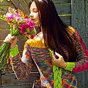 Одежда ручной работы. Ярмарка Мастеров - ручная работа Радужный пуловер ,, Осени краски ,,. Handmade.