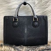 Сумки и аксессуары handmade. Livemaster - original item Briefcase made of polished genuine sea Stingray leather. Handmade.