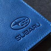 Канцелярские товары handmade. Livemaster - original item SUBARU / Oblojka for car documents. Handmade.