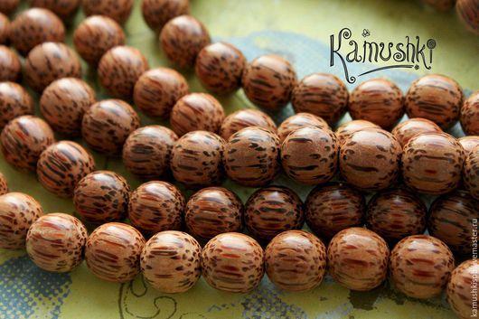 Для украшений ручной работы. Ярмарка Мастеров - ручная работа. Купить Бусины из дерева, шар 11-12 мм. 1 шт.. Handmade.