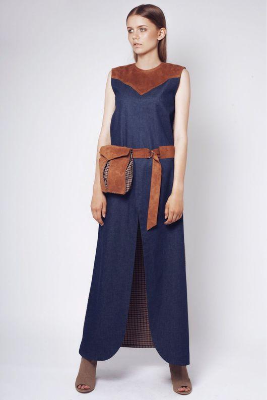 Платья ручной работы. Ярмарка Мастеров - ручная работа. Купить Длинное платье. Handmade. Длинное платье, платье из замши