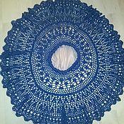 """Одежда ручной работы. Ярмарка Мастеров - ручная работа Вязанная юбка крючком """"Снежинка""""джинсового цвета. Handmade."""