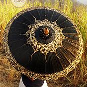 """Аксессуары ручной работы. Ярмарка Мастеров - ручная работа Расписной черный тайский зонт """"Thai Black"""". Handmade."""