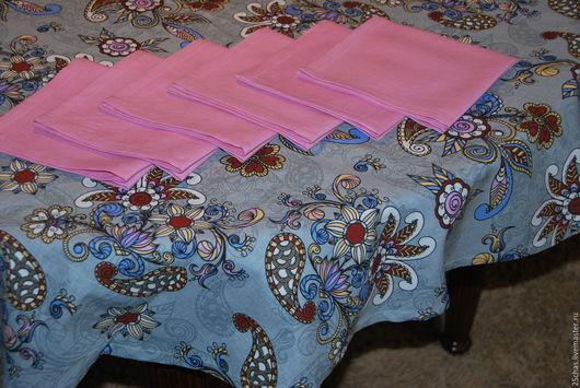 """Текстиль, ковры ручной работы. Ярмарка Мастеров - ручная работа. Купить Льняной набор """"Узоры"""" скатерть+салфетки. Handmade. Комбинированный"""