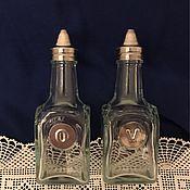 Для дома и интерьера ручной работы. Ярмарка Мастеров - ручная работа Стеклянные бутылочки для масла и уксуса.. Handmade.