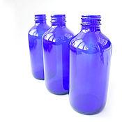 Вазы ручной работы. Ярмарка Мастеров - ручная работа Стеклянные бутылочки цвет индиго для декоративных работ. Handmade.