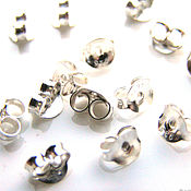handmade. Livemaster - original item Plugs for puset earrings 925 sterling silver Bali. Handmade.